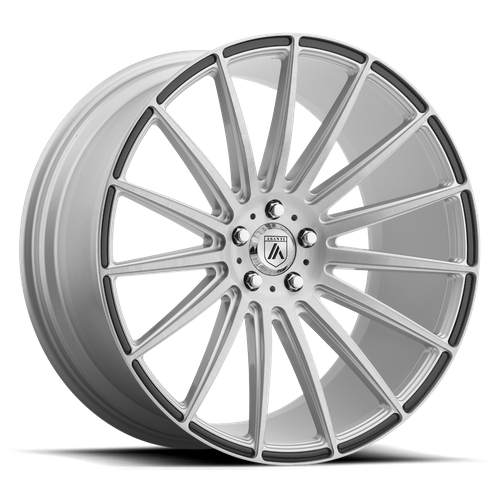 ASANTI ABL-14 POLARIS hliníkové disky 10,5x22 5x112 ET35 Brushed Silver Carbon Fiber Insert