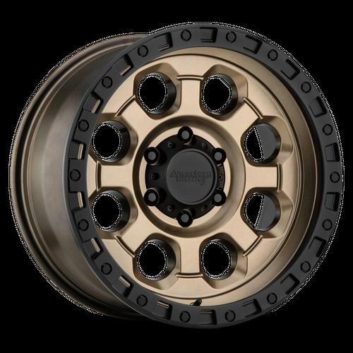 AMERICAN RACING AR201 hliníkové disky 9x18 6x139,7 ET35 Matte Bronze Black Lip