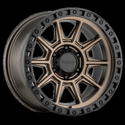 AMERICAN RACING AR202 hliníkové disky 8x16 8x165,1 ET0 Matte Bronze Black Lip