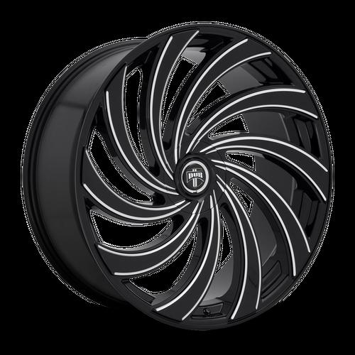 DUB S239 DELISH hliníkové disky 9x24 5x115-120 ET15 GLOSS BLACK MILLED