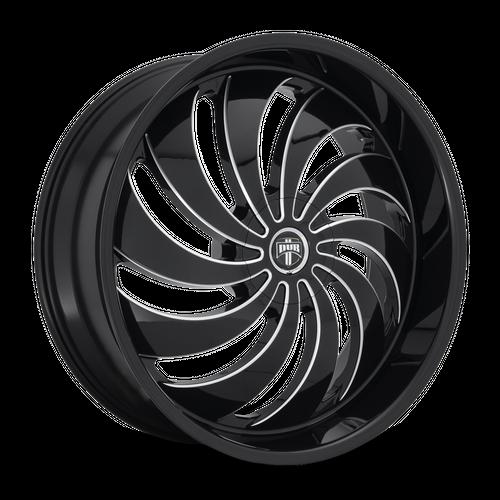 DUB S242 COJONES hliníkové disky 9x24 5x115-120 ET15 GLOSS BLACK MILLED