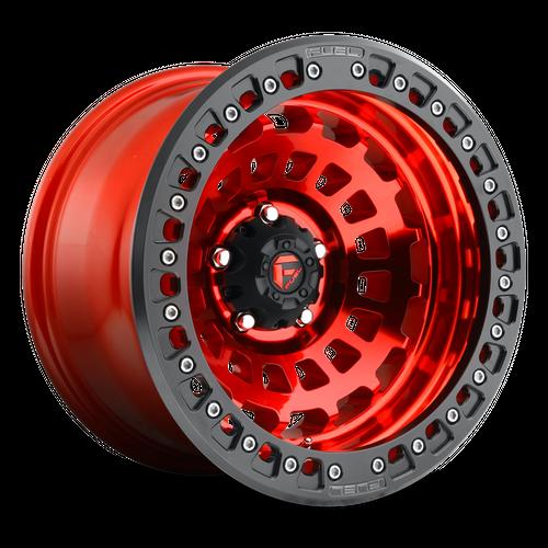 FUEL D100 ZEPHYR BL - OFF ROAD ONLY hliníkové disky 9x17 5x150 ET-15 CANDY RED