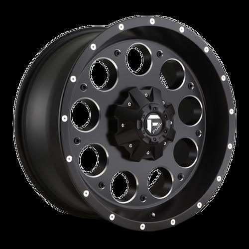 FUEL D525 REVOLVER hliníkové disky 8x16 8x165,1 ET1 MATTE BLACK MILLED
