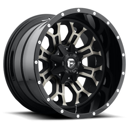 FUEL D561 CRUSH hliníkové disky 9x17 5x114,3-127 ET1 GLOSS MACHINED DOUBLE DARK TINT