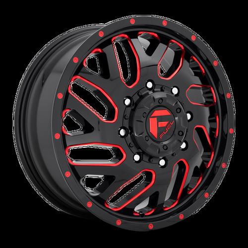 FUEL D656 TRITON hliníkové disky 8,25x20 8x200 ET105 GLOSS BLACK RED TINTED CLEAR
