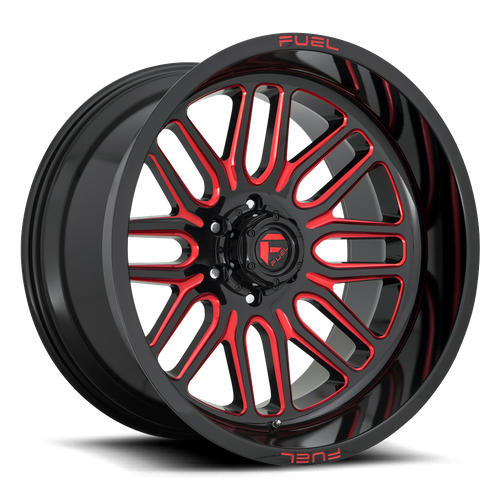 FUEL D663 IGNITE hliníkové disky 10x20 6x135 ET-18 GLOSS BLACK RED TINTED CLEAR