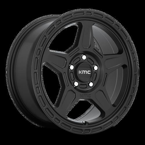 KMC KM721 ALPINE hliníkové disky 7x16 5x114,3 ET15 Satin Black