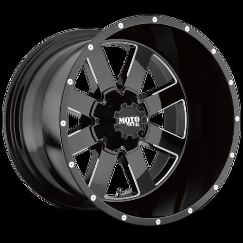 MOTO METAL MO962 hliníkové disky 10x20 8x165,1 ET-24 Gloss Black Milled