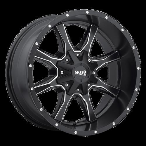 MOTO METAL MO970 hliníkové disky 9x18 6x120-139,7 ET18 Satin Black Milled