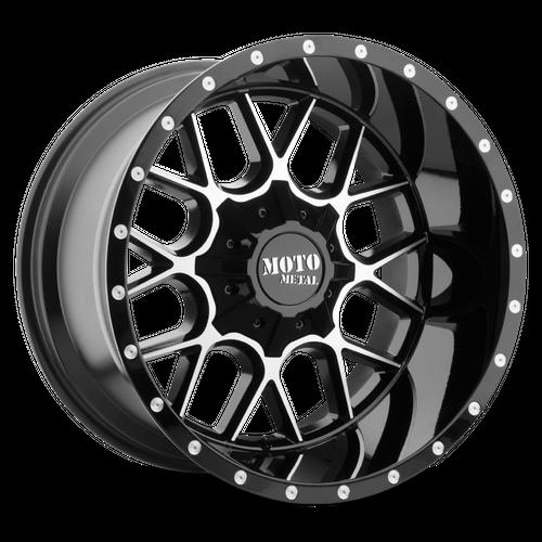 MOTO METAL MO986 SIEGE hliníkové disky 10x22 6x135-139,7 ET-18 Gloss Black Machined