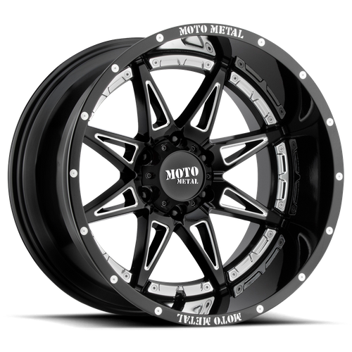 MOTO METAL MO993 HYDRA hliníkové disky 9x17 5x127 ET-12 Gloss Black Milled