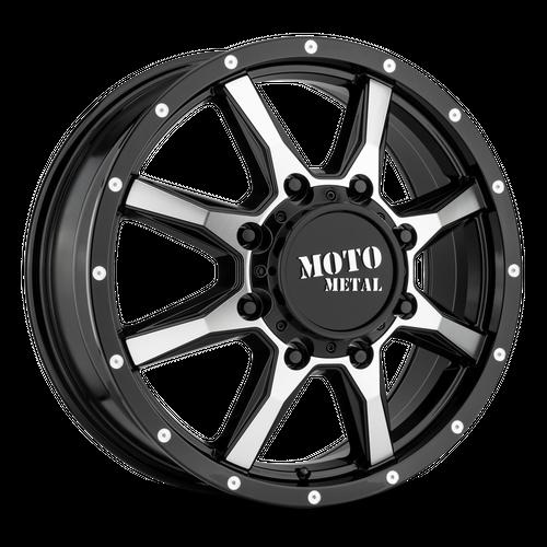 MOTO METAL MO995 hliníkové disky 6,5x17 8x165,1 ET111 Gloss Black Machined - Front