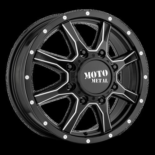 MOTO METAL MO995 hliníkové disky 8,25x20 8x165,1 ET127 Satin Black Milled - Front