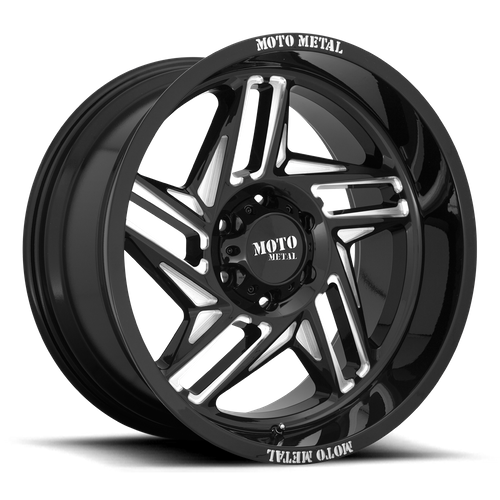MOTO METAL MO996 RIPSAW hliníkové disky 10x20 5x127 ET-18 Gloss Black Milled