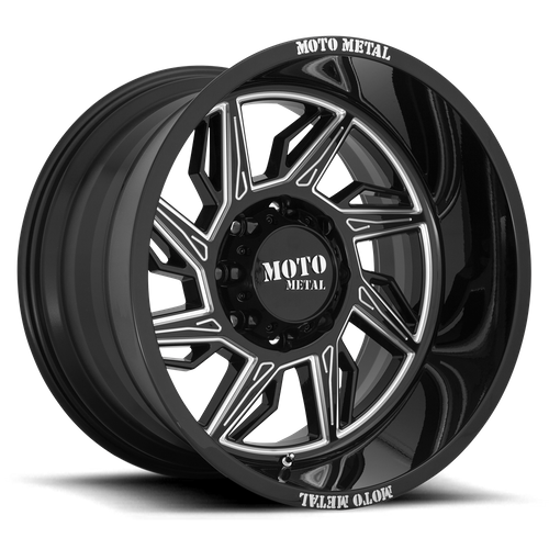 MOTO METAL MO997 HURRICANE hliníkové disky 10x20 6x139,7 ET-18 Gloss Black Milled - Right Directional