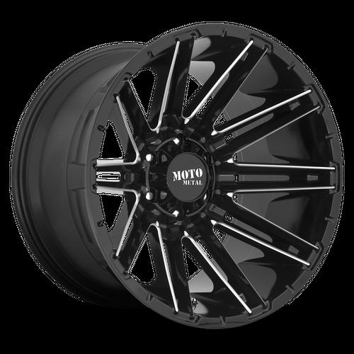 MOTO METAL MO998 KRAKEN hliníkové disky 10x20 8x165,1 ET-18 Gloss Black Milled