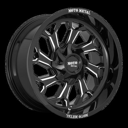 MOTO METAL MO999 hliníkové disky 10x20 6x135-139,7 ET-18 Gloss Black Milled