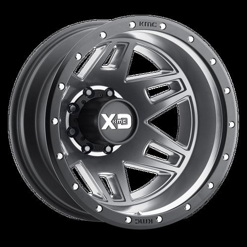 XD XD130 MACHETE DUALLY hliníkové disky 8,25x20 8x165,1 ET-198 Matte Gray Black Ring
