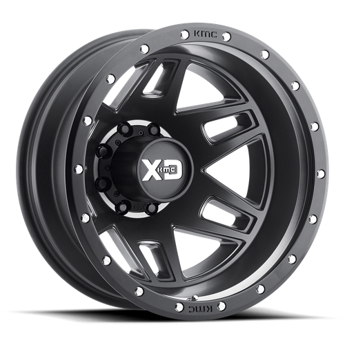XD XD130 MACHETE DUALLY hliníkové disky 7,5x20 8x165,1 ET142 Satin Black With Reinforcing Ring