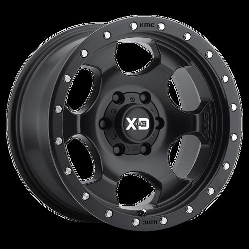 XD XD131 RG1 hliníkové disky 8x17 6x135 ET0 Satin Black With Reinforcing Ring