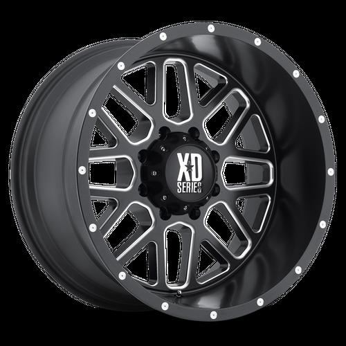 XD XD820 GRENADE hliníkové disky 12x22 8x165,1 ET-44 Satin Black Milled