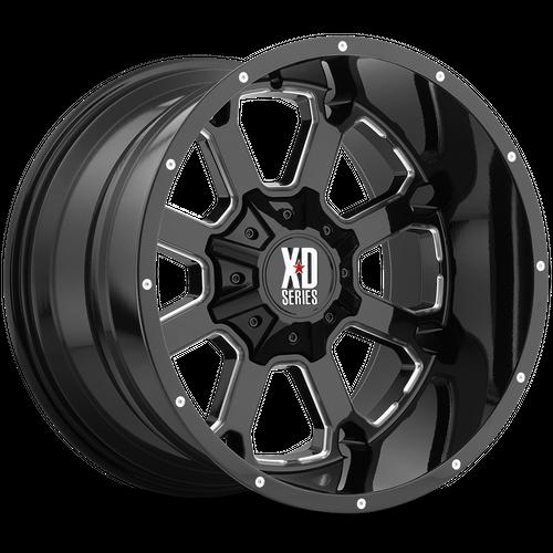 XD XD825 BUCK 25 hliníkové disky 9x20 5x139,7-150 ET0 Gloss Black Milled