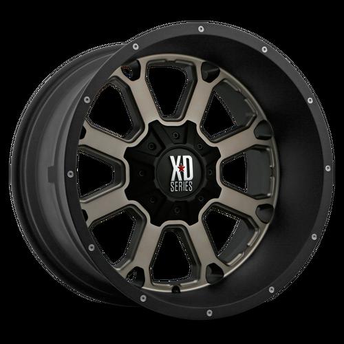 XD XD825 BUCK 25 hliníkové disky 9x20 6x135 ET30 Matte Black Dark Tint