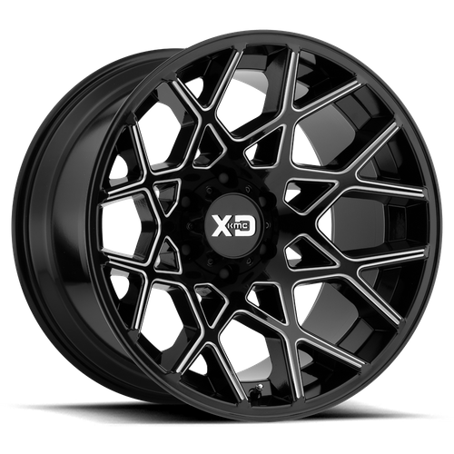 XD XD831 CHOPSTIX hliníkové disky 10x20 5x127 ET-24 Gloss Black Milled