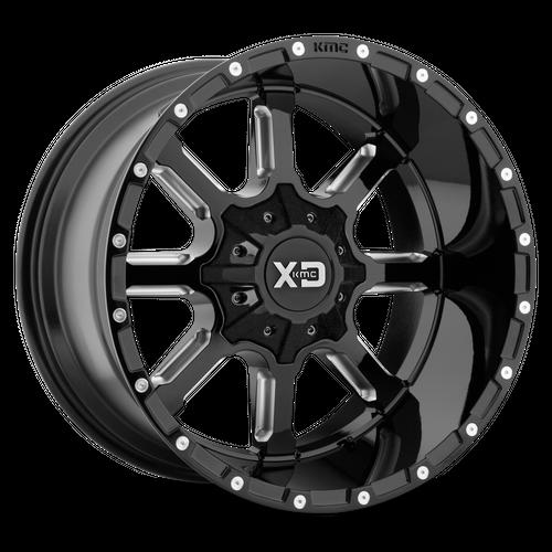 XD XD838 MAMMOTH hliníkové disky 12x22 5x139,7-150 ET-44 Gloss Black Milled