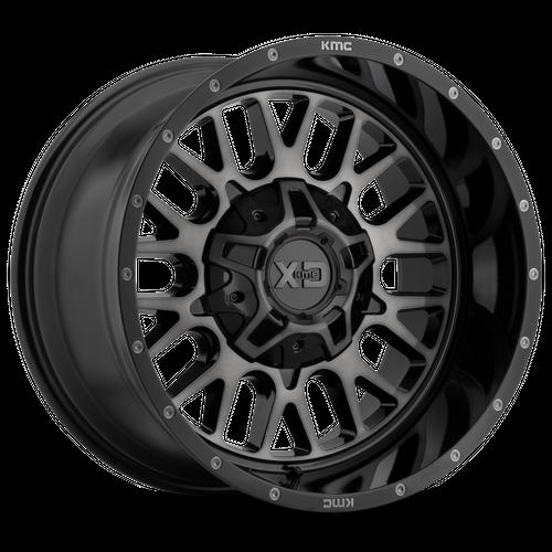 XD XD842 SNARE hliníkové disky 9x20 5x127-139,7 ET18 Gloss Black Gray Tint