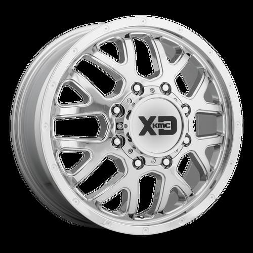 XD XD843 GRENADE DUALLY hliníkové disky 6,5x17 8x210 ET111 Chrome - Front