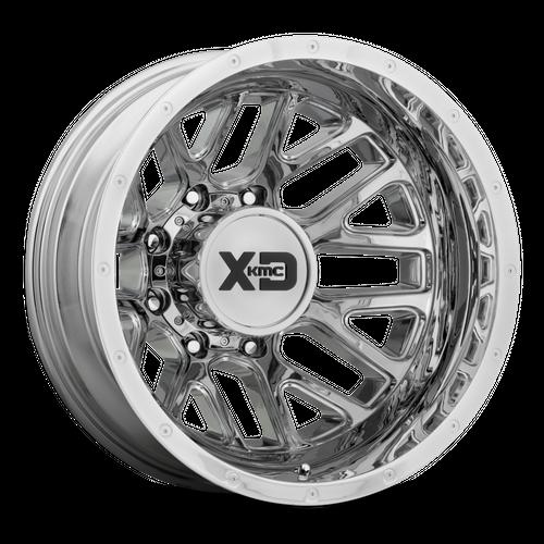 XD XD843 GRENADE DUALLY hliníkové disky 6,5x17 8x165,1 ET-140 Chrome - Rear