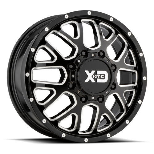 XD XD843 GRENADE DUALLY hliníkové disky 8,25x20 8x165,1 ET127 Gloss Black Milled - Front