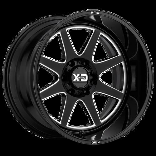 XD XD844 PIKE hliníkové disky 10x20 5x139,7 ET-18 Gloss Black Milled