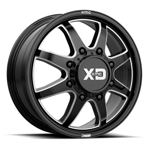 XD XD845 PIKE DUALLY hliníkové disky 8,25x20 8x165,1 ET105 Gloss Black Milled - Front