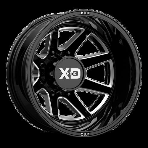 XD XD845 PIKE DUALLY hliníkové disky 8,25x22 8x210 ET-227 Gloss Black Milled - Rear