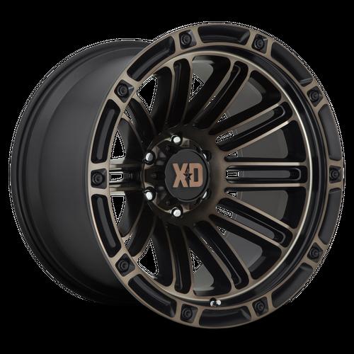 XD XD846 DOUBLE DEUCE hliníkové disky 9x20 5x127 ET0 Satin Black With Dark Tint