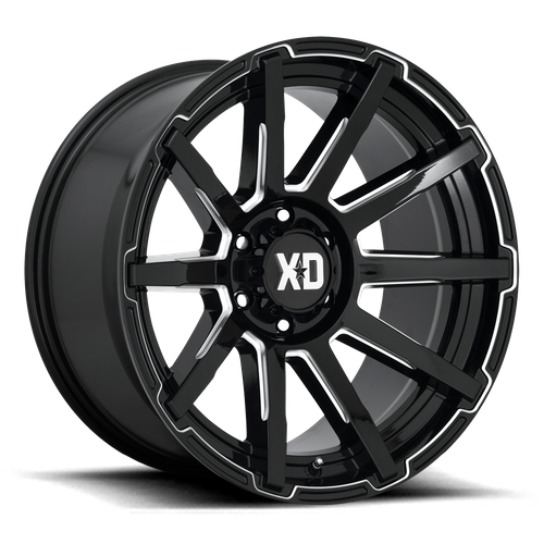 XD XD847 OUTBREAK hliníkové disky 10x22 6x135 ET12 Gloss Black Milled