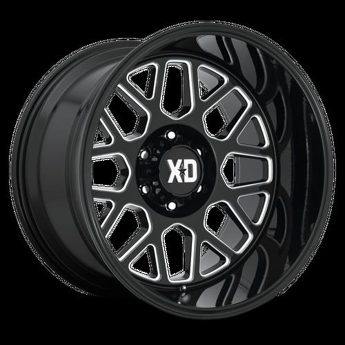 XD XD849 GRENADE 2 hliníkové disky 10x20 6x135 ET-18 Gloss Black Milled