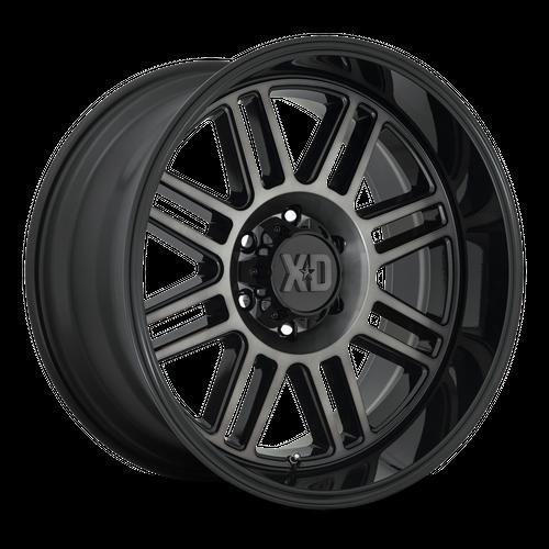 XD XD850 CAGE hliníkové disky 10x22 5x127 ET-18 Gloss Black With Gray Tint